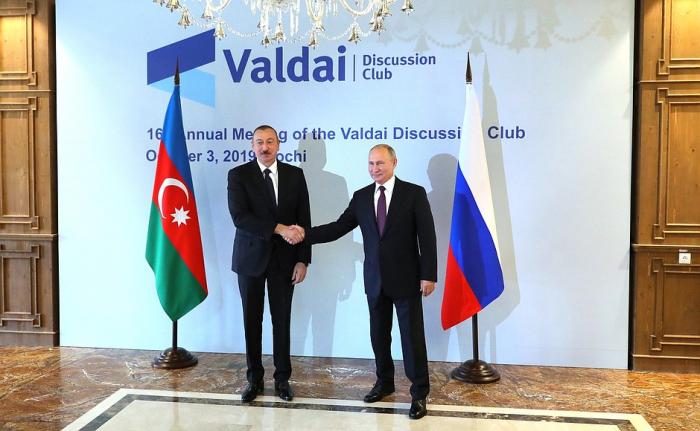 İlham Əliyev Putinlə görüşdü — FOTOLAR (YENİLƏNİB)