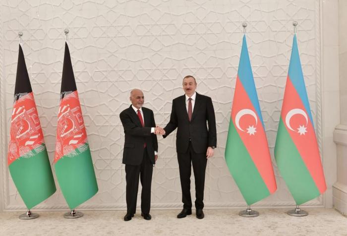 President Ilham Aliyev meets Afghan President Mohammad Ashraf Ghani