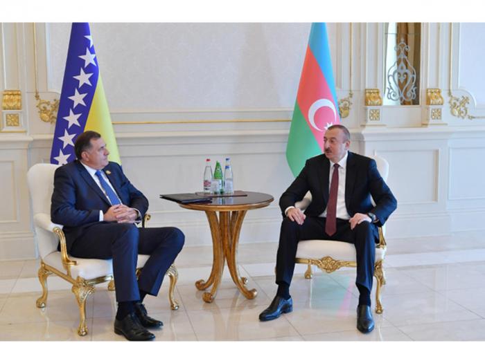 President Ilham Aliyev meets Chairman of Presidency of Bosnia and Herzegovina Milorad Dodik