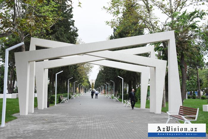 Prezidentin tapşırığı ilə yenidən qurulan Atatürk parkı - FOTOREPORTAJ