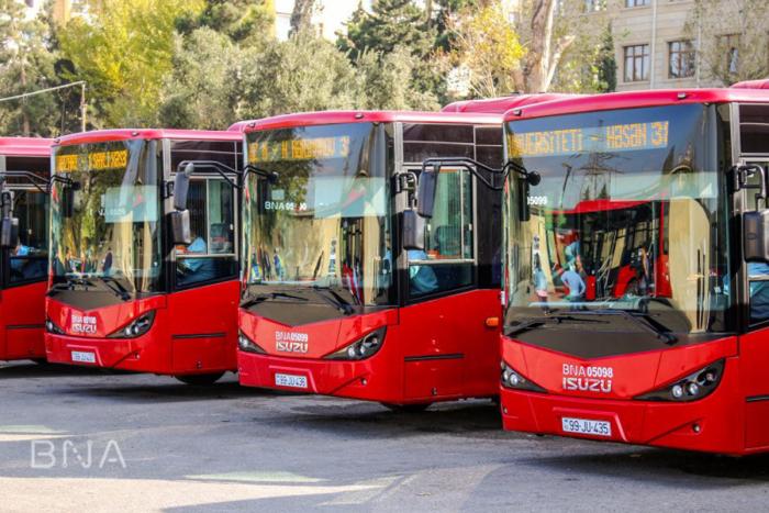 Bakıya gətirilən yeni avtobuslar xəttə buraxıldı - FOTOLAR