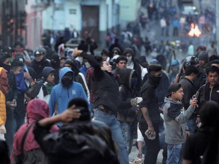 Manifestations violentes en Equateur, l