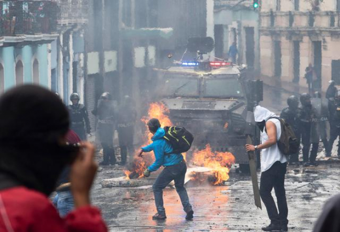 Ecuador declares state of emergency as fuel protesters battle police