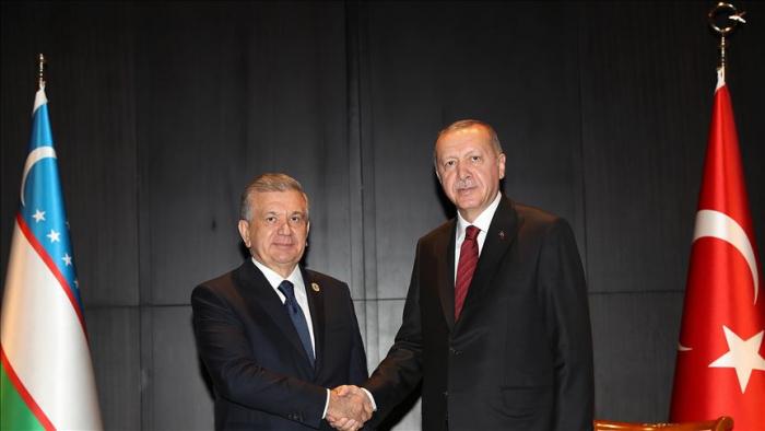 Ərdoğan Bakıda Özbəkistan lideri ilə görüşüb