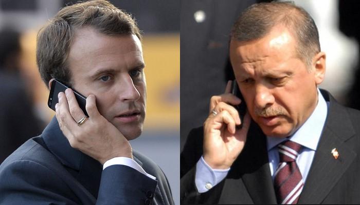 Ərdoğan Bakıda Fransa prezidenti ilə telefonla danışıb