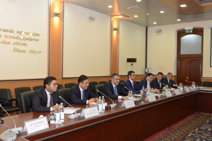 Azerbaijani communication minister meets Austrian delegation