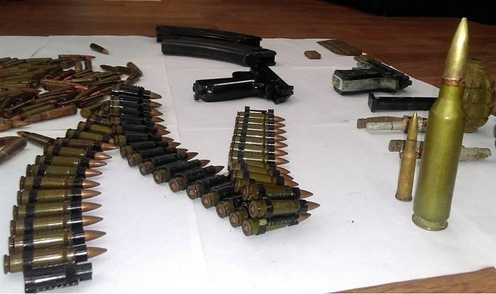 Goranboyda xeyli sayda silah-sursat tapılıb