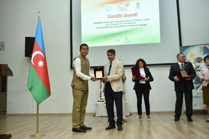 150th birth anniversary of Mahatma Gandhi celebrated in Baku