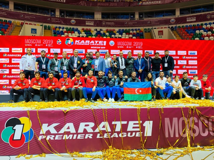 Azerbaijani karateka grab gold, bronze medals in Moscow