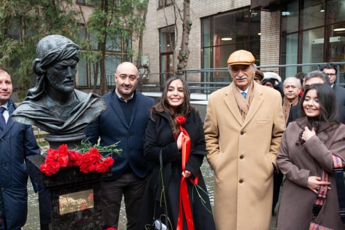 Leyla Əliyeva Moskvada Nəsiminin heykəlinin açılışında - FOTOLAR
