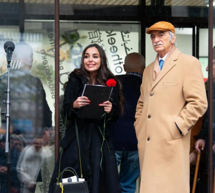 Leyla Əliyeva Moskvada Nəsiminin heykəlinin açılışında — FOTO