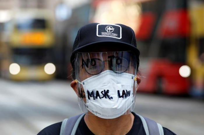 Hong Kong set to ban face masks as more protests planned