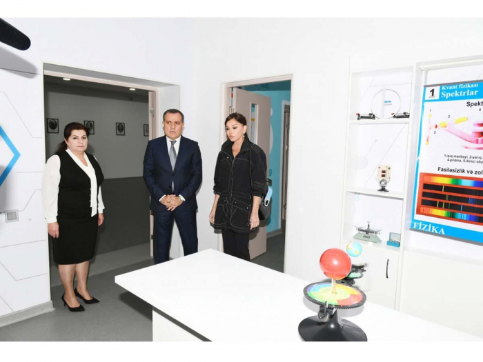 First VP Mehriban Aliyeva views conditions created at newly-renovated boarding school