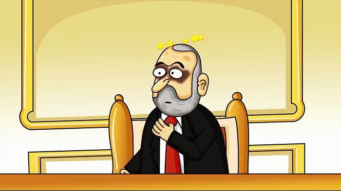 Paşinyana iki zərbə - Siyasi animasiya