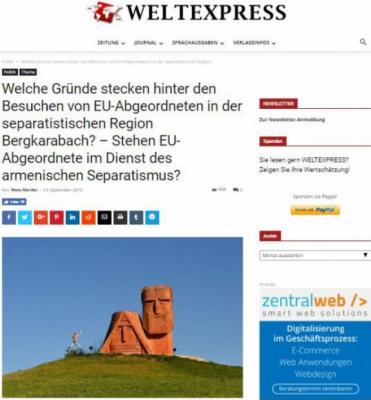 Almaniyanın nüfuzlu portalı Qarabağdan yazdı