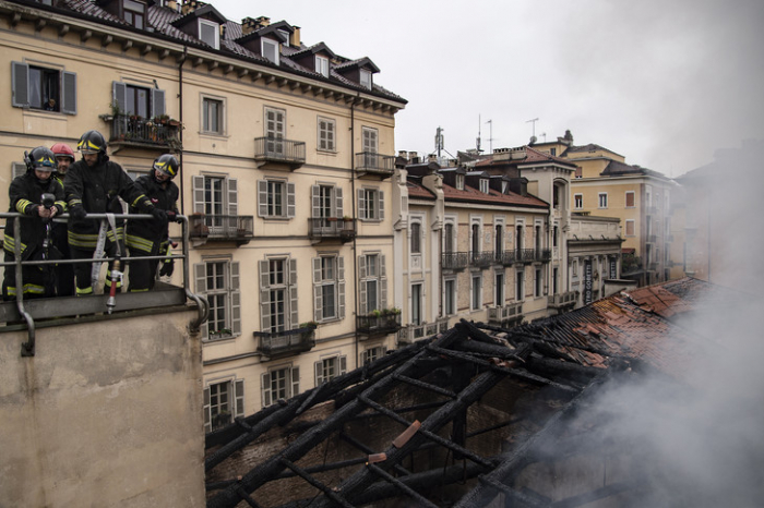 Incendie au site Unesco de l'Écurie Royale de Turin