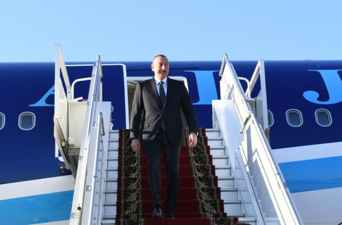 Azerbaijani President pays a working visit to Russia - PHOTOS