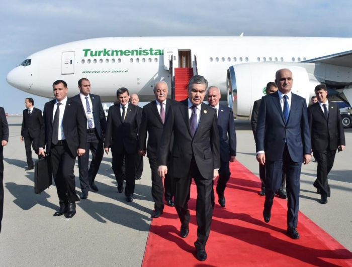President of Turkmenistan embarks on Azerbaijan visit
