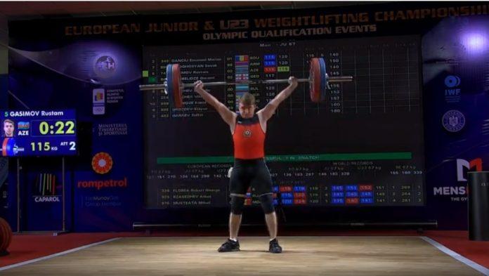 Rüstəm Qasımov Avropa rekordunu yenilədi