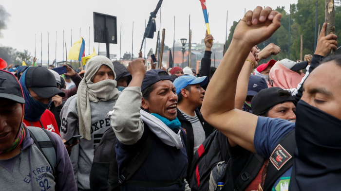 Curfew imposed in Ecuador as indigenous groups lead violent anti-austerity protests