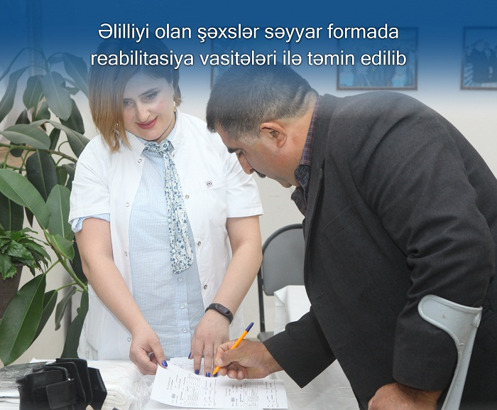 54 əlilə reabilitasiya vasitəsi verilib