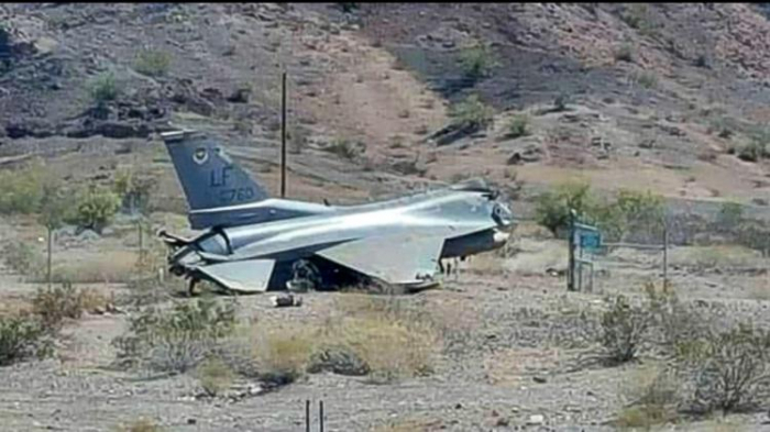 US air force F16 jet crashes in Germany