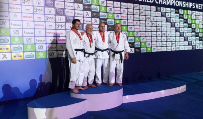 Azerbaijani veteran judoka becomes nine-time world champion
