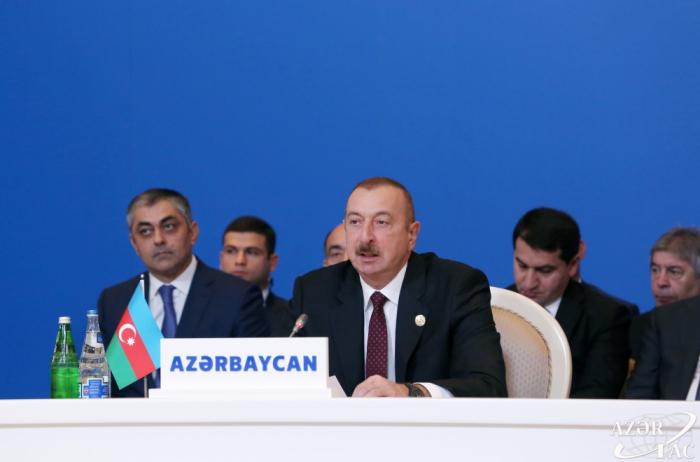"""Ilham Aliyev:  """"Armenia, que destruye mezquitas sagradas para los musulmanes del mundo, no puede ser un país amigo de los países musulmanes"""""""
