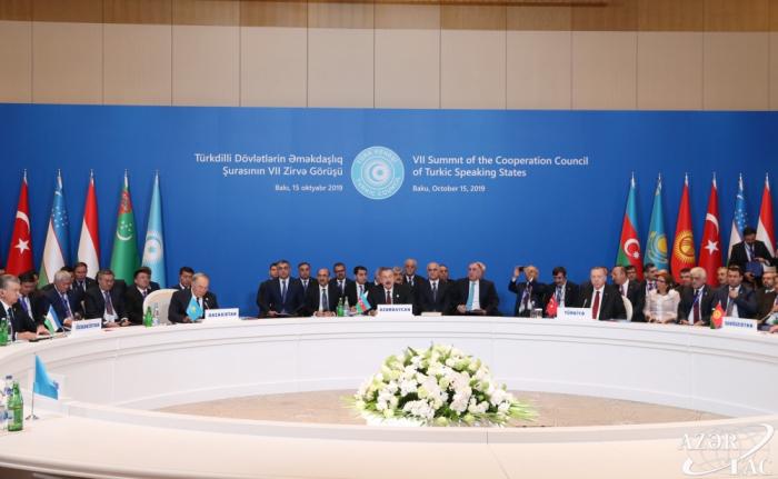 """Ilham Aliyev:   """"El desarrollo de la cooperación entre los Estados de Habla Túrquica es una de las direcciones prioritarias de la política exterior de Azerbaiyán"""""""