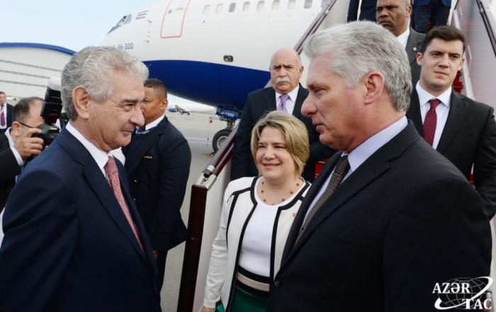 Kuba Prezidenti Azərbaycana gəlib