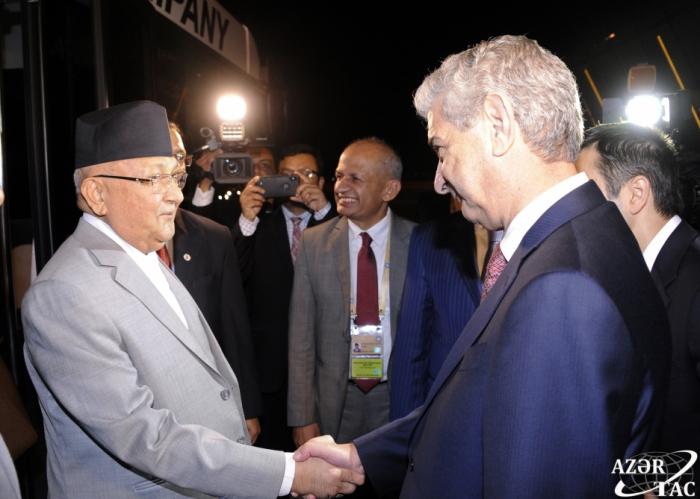 Primer ministro de Nepal se encuentra de visita en Azerbaiyán