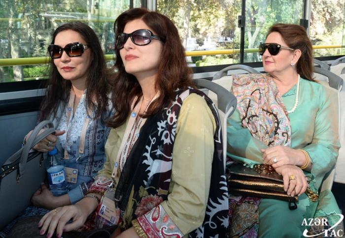 Pakistan Prezidentinin xanımı Bakını gəzdi