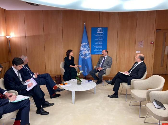 Nazir UNESCO-nun baş direktoru ilə görüşüb