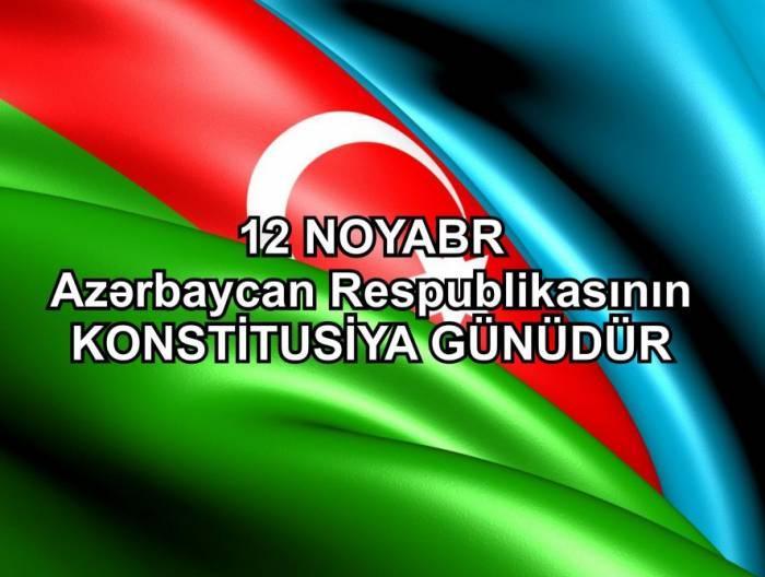 Azərbaycanda Konstitusiya Günüdür