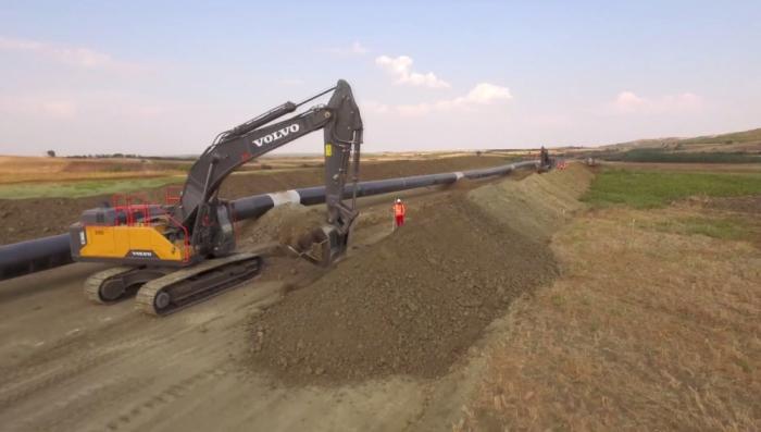 Environ 90% des travaux de construction de TAP se sont achevés