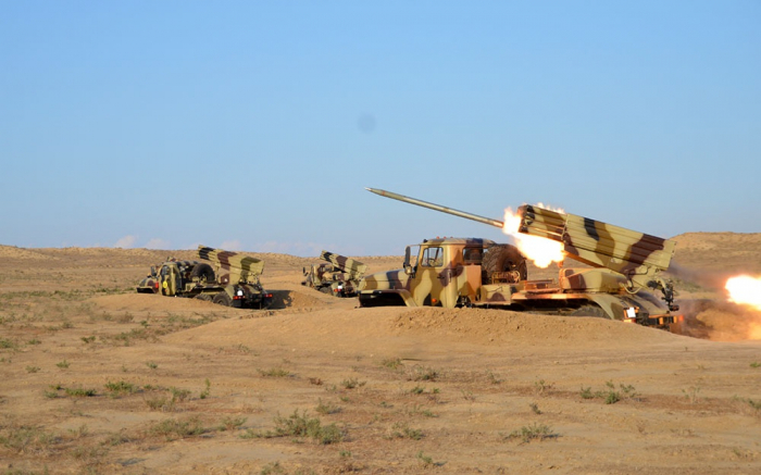 Azerbaijani army's rocket, artillery units conduct live-fire exercises -   VIDEO