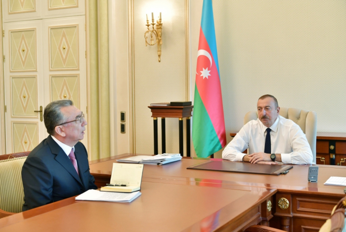 President Ilham Aliyev receives head of Baku City Executive Authority