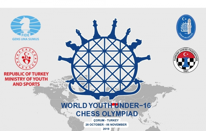 L'équipe d'Azerbaïdjan d'échecs remporte les Olympiades U16 à Çorum