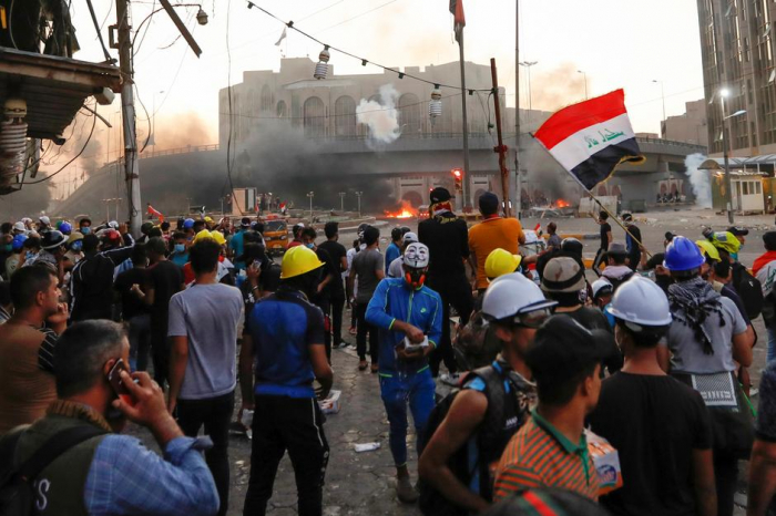 Protesters killed as Iraqi security forces open fire in Baghdad-  NO COMMENT