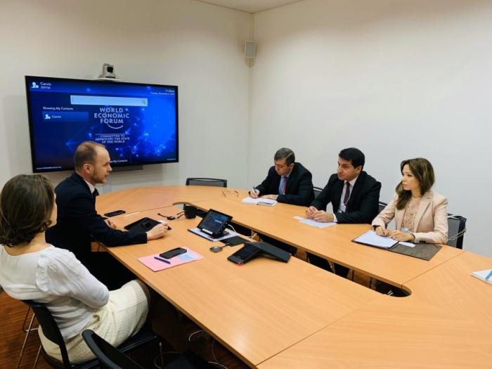 La coopération entre l'Azerbaïdjan et le Forum économique mondial fait l'objet de discussions