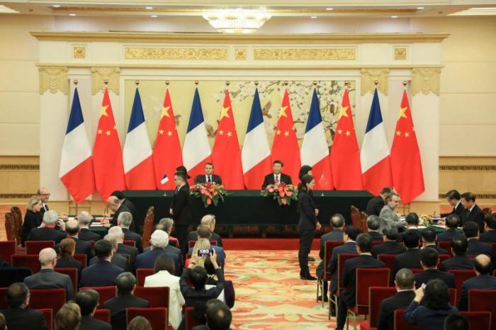 Climat:  Macron et Xi réaffirment leur soutien à l