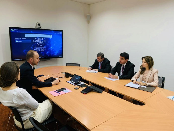 Azerbaijan's top official discusses expansion of co-op with WEF