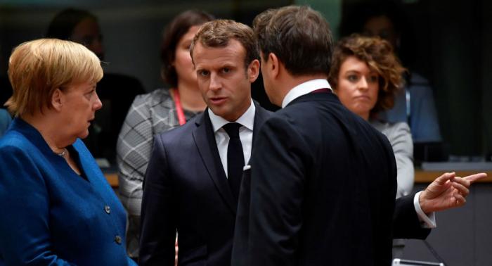 """Merkel wirft Macron """"drastische"""" Wortwahl über Nato vor"""
