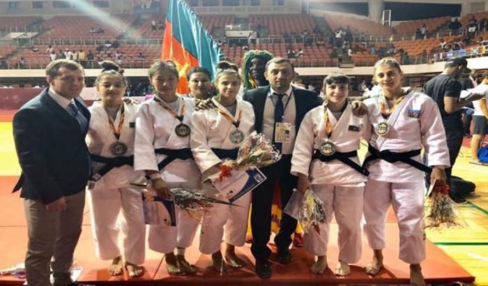 Azərbaycan cüdoçuları Kamerunda 5 medal qazanıb