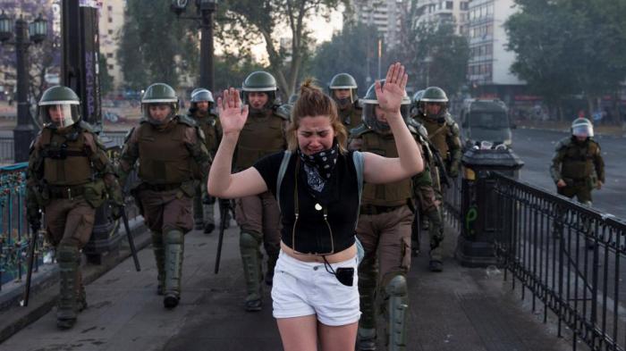 Marea de protestas en las calles de Chile