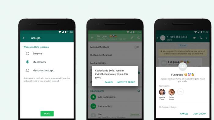 WhatsApp ya permite decidir quién puede agregarnos a grupos