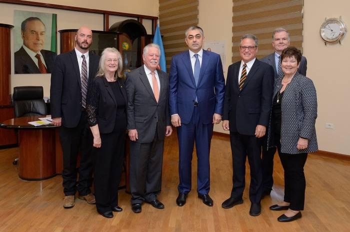 Ministro de Transporte de Azerbaiyán recibió a la delegación norteamericana