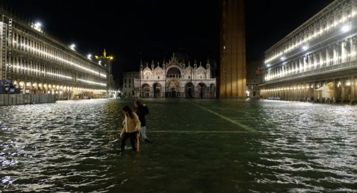 Alarma en Venecia por la peor inundación en medio siglo