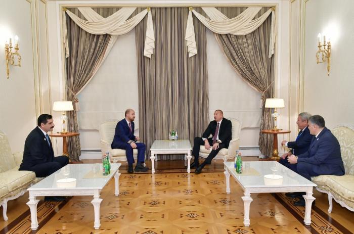 Le président Ilham Aliyev reçoit le président de la Confédération mondiale d'Ethnosports