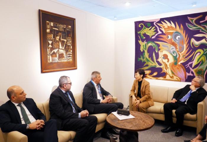 Se discuten los temas de cooperación entre Azerbaiyán y Singapur